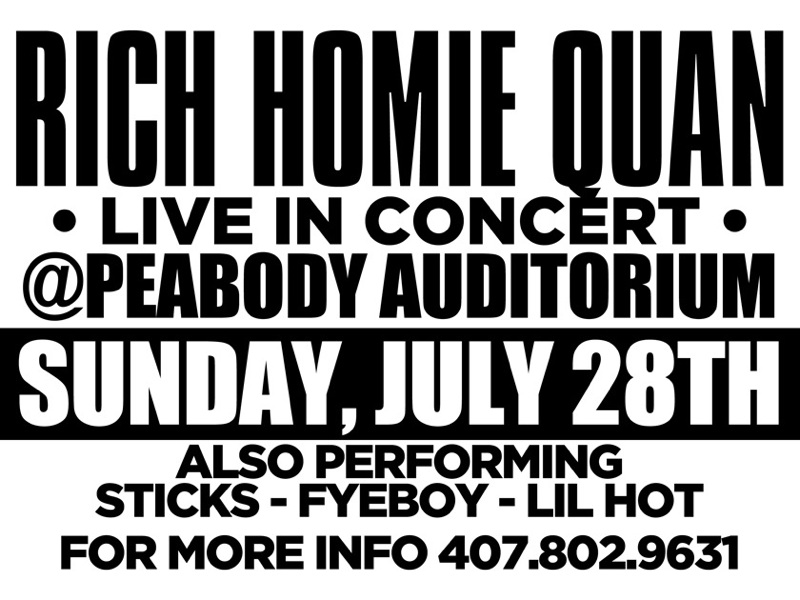 FYEBOY x Sticks X Lil Hot Live Concert with Rich Homie Quan